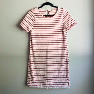 Beach Lunch Lounge Red & White Stripe Cotton Dress